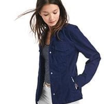 Embroidered-trim utility jacket | Gap