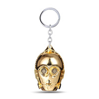 2017 Star Wars Helmet Key Chain Darth Vader UFO Gold Mask Altman Keychain Pendant Charms Accessories llaveros Porte Clef For Man