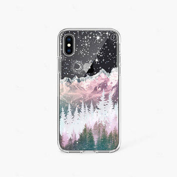 Winter Phone Case iPhone X Case Clear iPhone 8 Case Clear iPhone 8 Plus Clear Case iPhone 6 Case iPhone 7 Case Samsung Galaxy S8 Case Snow