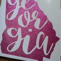 Georgia Decal | Home Decal | State Decal | Southern Decal | Georgia | Car Decal | Sticker | Monogram | Georgia State | Georgia Pride