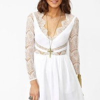Paradise Stars Dress - White in  What's New at Nasty Gal