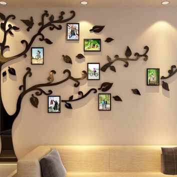 3d Picture Frames Tree Wall Murals for Living Room Bedroom Sofa Backdrop Tv Wall Background Removable Wall Decor Decal Sticker (70(H) x 98(W) inches)