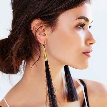 Moon And Arrow Black Horse Earring- Assorted One