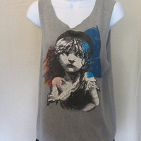 Amazing 1986 LES MISERABLES BROADWAY Tank Top
