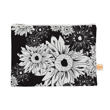 "Laura Escalante ""Midnight Florals"" Black Sunflower Everything Bag"