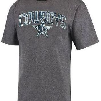 Dallas Cowboys T-Shirt Men's Rescender Wave DCM NFL Gray