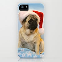 Christmas Pug iPhone & iPod Case by Veronica Ventress