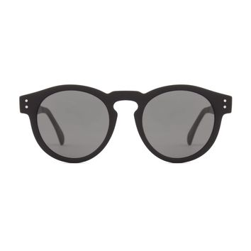 Komono - Clement Metal Series Black Sunglasses / Polycarbonate Solid Smoke Lenses