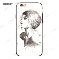 Pretty girl with shoulders Phone Case for iPhone 6 7 6Plus 5S SE