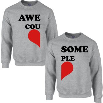 AWESOME COUPLE COUPLE SWEATSHIRT