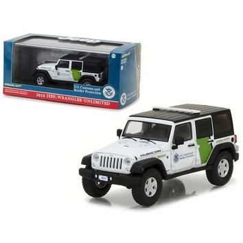 2015 Jeep Wrangler Unlimited U.S. Customs and Border Protection 1/43 Diecast Model Car by Greenlight