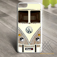 Vintage Wood VW Minibus Custom case for iPhone, iPod and iPad