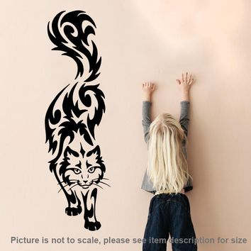 Art design Cat Wall Sticker home decor vinyl Cartoon cats Wall Decals removable animal decals for kids room free shipping