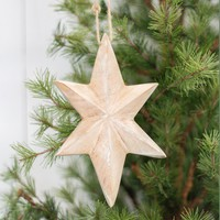 Wooden Star Ornament