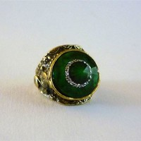 Green Cocktail Ring from Maison Chantal Michael