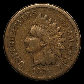 1877 Indian Head Cent Fine