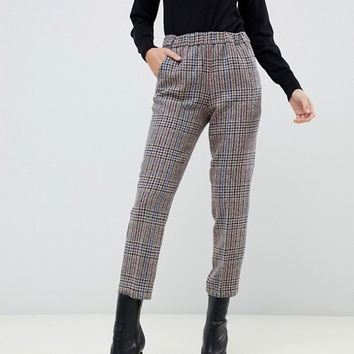 Sisley multi check tailored pants | ASOS
