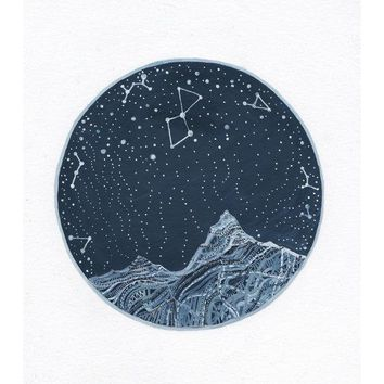 Fine Art Print Lyra Constellation