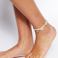 ASOS Crochet Flower Anklet Pack