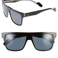 Men's Crimson Visual 'Pico' 55mm Polarized Flat Top Sunglasses