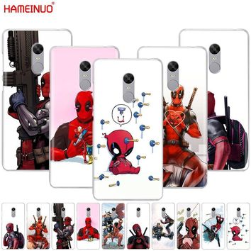 Deadpool Dead pool Taco HAMEINUO  Super Cool Marvel  Cover phone  Case for Xiaomi redmi 5 4 1 1s 2 3 3s pro PLUS redmi note 4 4X 4A 5A AT_70_6