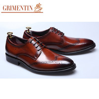 shoes for men black brown vintage fashion business genuine leather mens dress shoes male