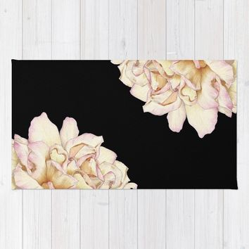 Roses - Lights the Dark Rug by drawingsbylam