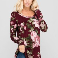 Beverly Floral Long Sleeve Tee