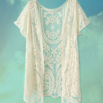 The Ivory Tower Lace Shrug