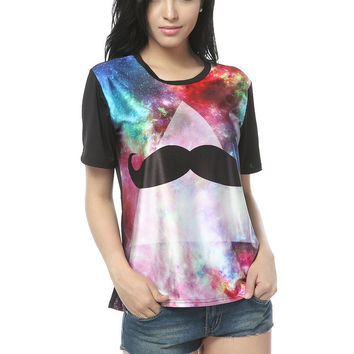 Starry Night — Mustache Galaxy T-shirt