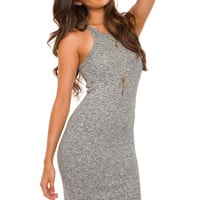 Carli Ribbed Dress - Grey