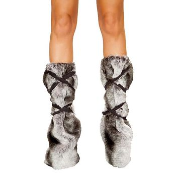 Sexy Let It Snow Eskimo Pair of Strappy Leg Warmers