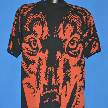 90s Red Wolf Beer All Over Print Double Sided t-shirt Large