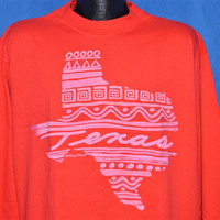 90s Texas Tribal Puffy Paint Long Sleeve t-shirt Extra-Large