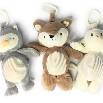 KellyToy Woodland Baby Animals Bundle Gift Set Includes Fox, Lamb and Owl