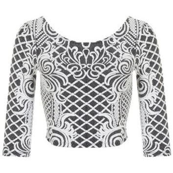 Cable Jacquard Crop - Apparel - New In