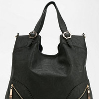 Violet Ray Asymmetrical Zip Vegan Leather Tote Bag - Urban Outfitters