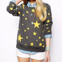 Gray And Yellow Stars Sweater