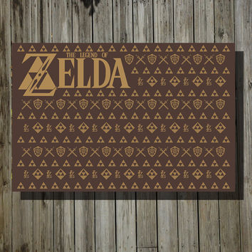 The Legend of Zelda / Louis Vuitton retro poster minimalist art video game poster print nintendo poster print 11x17