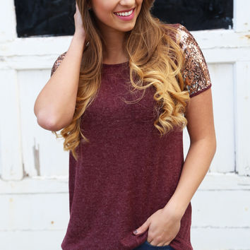 Sequin Sleeved Tunic