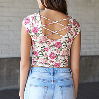 Flirty Floral Crop Top