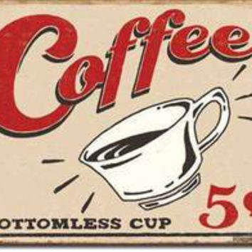 Tin Sign : Coffee 5 Cents