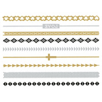 Metallic Band Temporary Tattoos 249134957 | Hair & Skin