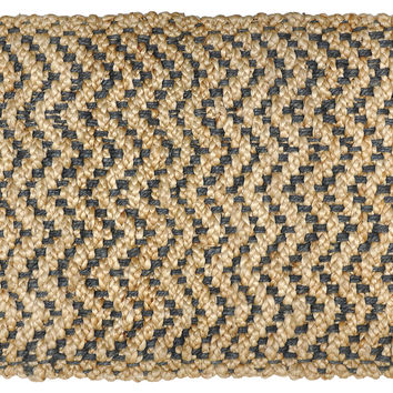Herringbone Jute Rug, Black/Natural, Area Rugs