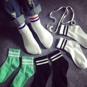 Retro Womens and Girl Casual Sports Socks
