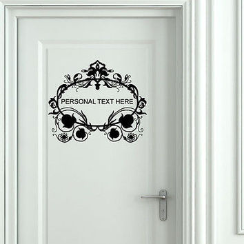 Wall Mural Vinyl Decal Sticker Sign Door Frame Personalized Text Name AL287