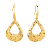 Mesh Textile Inspired Dangle Earrings In 14K Gold