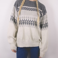 Vintage Neutral Nordic Sweater