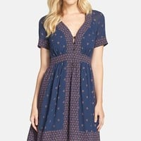 Women's French Connection 'Woodstock' Border Print Georgette Fit & Flare Dress,