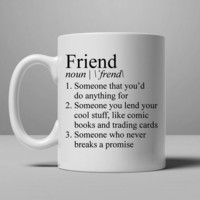 Stranger Things Friend Definition Mug, Tea Mug, Coffee Mug